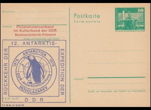 DDR P 79 12. Antarktis-Expedition der DDR 1976-1978, **