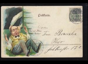 Sport-AK Kegeln: Auf der Kegelbahn - Es hat alles zwei Seiten! DRESDEN 17.7.1906