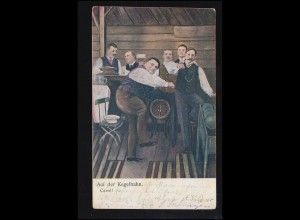 Sport-AK Kegeln: Auf der Kegelbahn - Carre! LÖBAU (SACHSEN) 16.8.1909