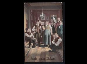 Sport-AK Kegeln: Auf der Kegelbahn - Achte um´n Dicken! WERNIGERODE 17.5.1911