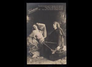 Künstler-AK Wagner: Liebespaar - Tannhäuser und der Sängerkrieg, BREGENZ 2.10.09