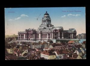 AK Belgien Brüssel - Justizpalast, Feldpost Am Schalter aufgeliert BRÜSSEL 1917