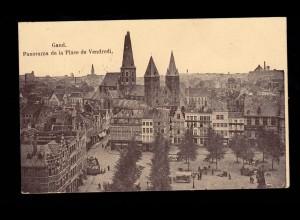 AK Belgien Gand / Gent Panorama mit Vendredi-Platz, Feldpost 4.9.1915