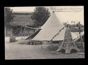 AK Frankreich: Camp de Sissonne (Aisne) - Zelte, Feldpost 5.1.1914