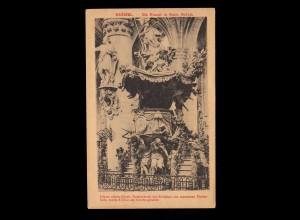 AK Belgien: Brüssel - Die Kanzel in Sanct Gudula, Feldpost 16.5.1918