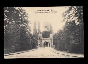 AK Belgien: Jehay Schloss / Jehay-Bodegnée Schloss, Feldpost AACHEN 20.8.1914