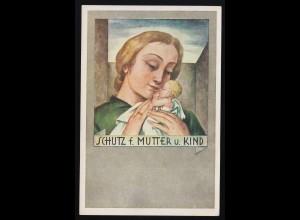 Die Mutter, J. Wehinger Frau hält Kind, Schutz f. Mutter u.Kind, ungebraucht