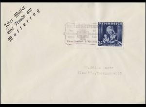 627 Muttertag 1936 - Schmuck-FDC ESSt Muttertagsfeier Wiener Neustadt 5.5.36