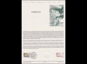 Collection Historique: Etretat & Felsenklippen und Küste von Etretat 12.6.1987