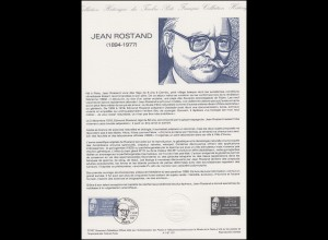 Collection Historique: Biologe, Philosoph, Schriftsteller Jean Rostand 21.2.1987