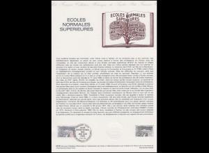 Collection Historique: Écoles Normales Superieures & Schulbildung 16.10.1982