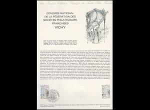 Collection Historique: Nationaler Philatelistenkongress in Vichy 6.6.1981