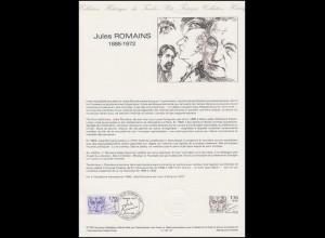 Collection Historique: Schriftsteller & Dramatiker Jules Romains 23.2.1985