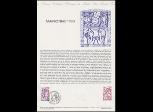 Collection Historique: Marionetten - Marionettes - Puppets on a String 25.9.1982