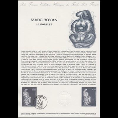 Collection Historique: Bildhauer Marc Boyan - La Famillle / Skulpturen 18.9.1992