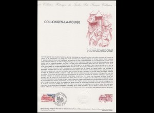 Collection Historique: Kirche und Abtei von Collonges-la-Rouge 3.7.1982