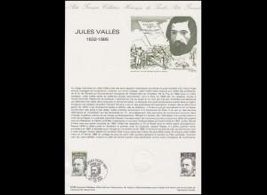 Collection Historique: Romanschriftsteller und Publizist Jules Valles 5.6.1982