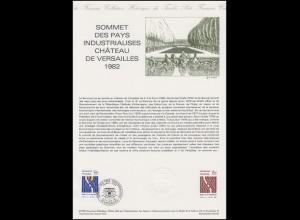 Collection Historique: Treffen der Industrieländer in Versailles im Juni 1982