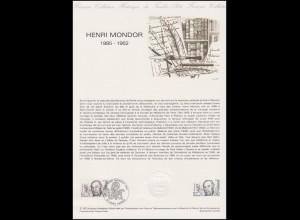Collection Historique: Chirurg und Literaturhistoriker Henri Mondor 22.5.1982
