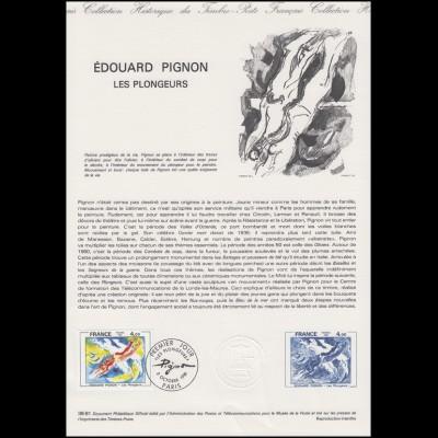 Collection Historique: Maler Painter Peintre Edouard Pignon Le Plongeurs 3.10.81