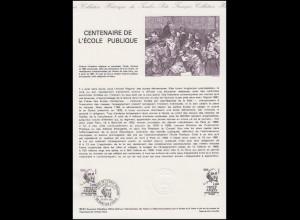 Collection Historique: L'Ecole Publique Jules Ferry - Schule / Lehrer 26.9.1981