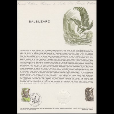 Collection Historique: Balbuzard / Fischadler Pandion haliaetus 14.10.1978