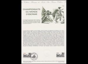 Collection Historique: Championnat de monde d'Escrime / WM in Fechten 27.6.1981