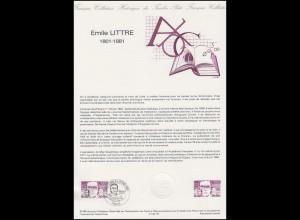 Collection Historique: Medizinhistoriker und Freimaurer Emile Littre 14.1.1984
