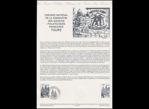 Collection Historique: Nationaler Philatelisten-Kongress Tours 15.5.1985