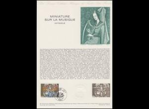 Collection Historique: Miniaturen des 15. Jahrhunderts - Musikinstrumente 1979