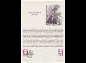 Collection Historique: Philosophin Dozentin Lehrerin Simone Weil 10.11.1979