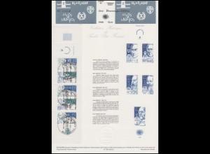 Collection Historique Berühmte Wissenschaftler Famous Persons Heftchenblatt 1986