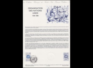 Collection Historique: Vereinte Nationen UNO Organisation des Nations Unies 1995