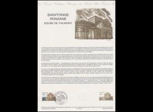 Collection Historique: Romanische Kirche Saintonge in Talmont 15.6.1985