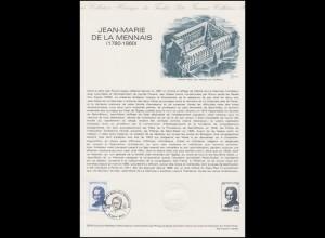 Collection Historique: Schulorden Generalvikar Jean-Marie de La Mennais 6.9.1980