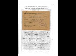 Kriegsgefangenenpost Karte Lager 168/20 Minsk nach Hagen, vom 25.12.1946