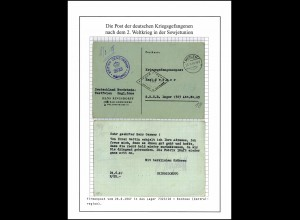 Kriegsgefangenenpost ins Lager 323/18 Tula UdSSR, von Ringsdorff, Mehlem 25.6.47
