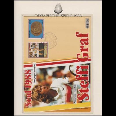 Olympische Spiele 1988 Seoul - Paraguay Brief Nr. 004406 Steffi Graf 16.8.1988