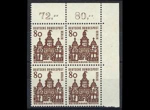 249 Bauwerke klein 80 Pf Eck-Vbl. or ** postfrisch