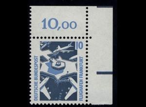 1347 SWK 10 Pf Ecke or ** postfrisch