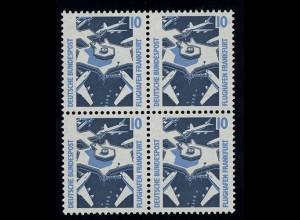 1347 SWK 10 Pf Viererblock ** postfrisch