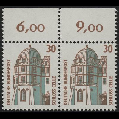 1339 SWK 30 Pf Paar OR ** postfrisch
