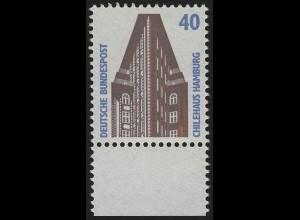 1379 SWK 40 Pf Unterrand ** postfrisch