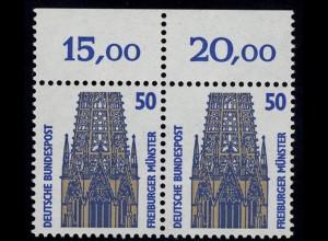 1340 SWK 50 Pf Paar OR ** postfrisch