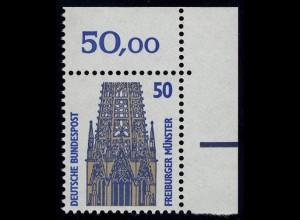 1340 SWK 50 Pf Ecke or ** postfrisch