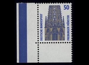 1340 SWK 50 Pf Ecke ul OHNE Naht ** postfrisch