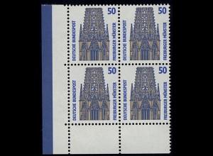 1340 SWK 50 Pf Eck-Vbl. ul OHNE Naht ** postfrisch