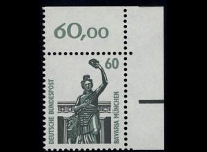 1341 SWK 60 Pf Ecke or ** postfrisch