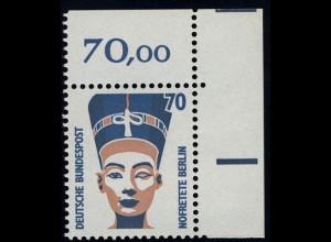 1374 SWK 70 Pf Ecke or ** postfrisch