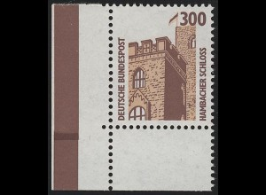 1348 SWK 300 Pf Ecke ul MIT Naht ** postfrisch